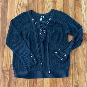 LaceUp Sweater